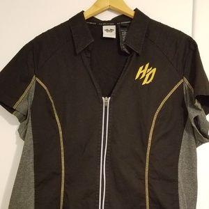 Womens  Harley Davidson  Mechanic Shirt